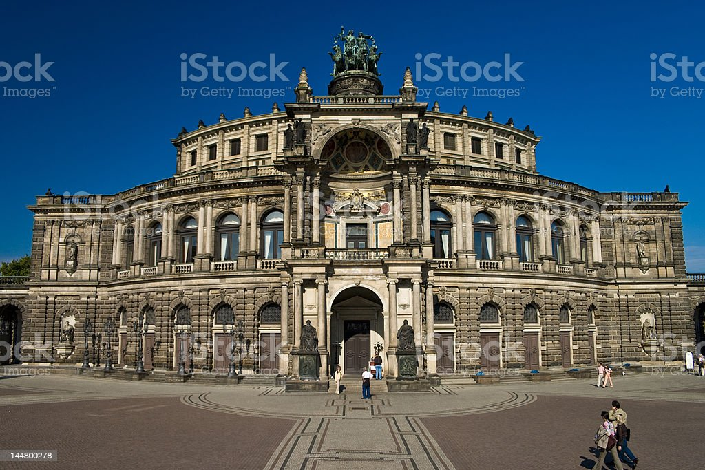 Semper Opera Dresden royalty-free stock photo