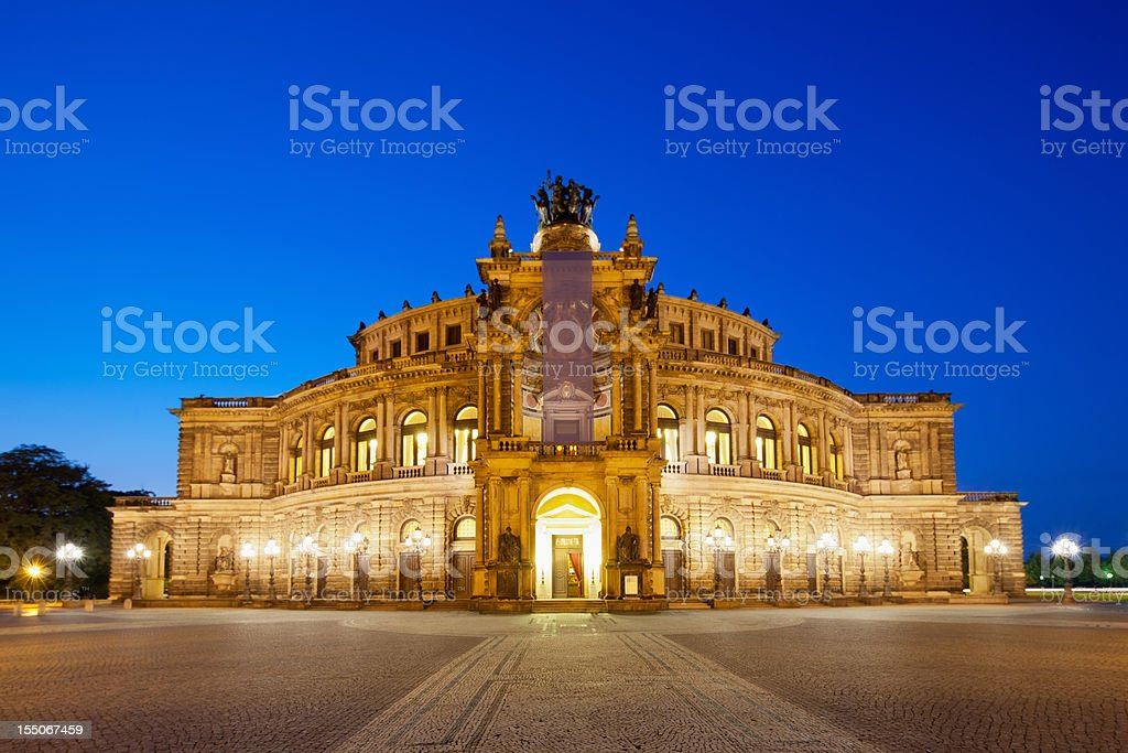 Semper Opera House Dresden, Germany stock photo