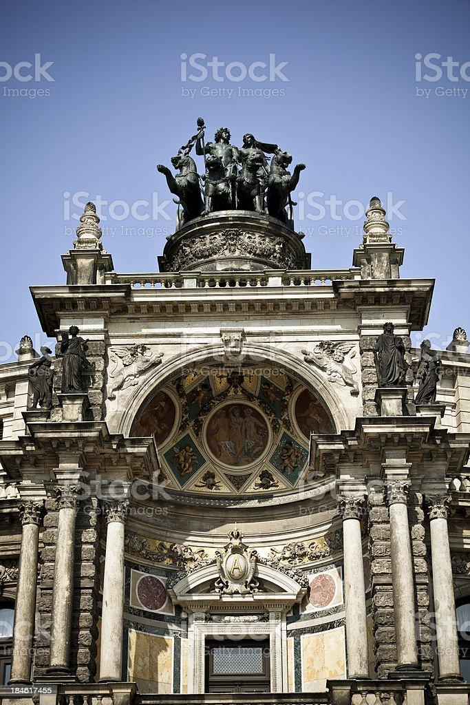 semper opera house dresden, germany royalty-free stock photo