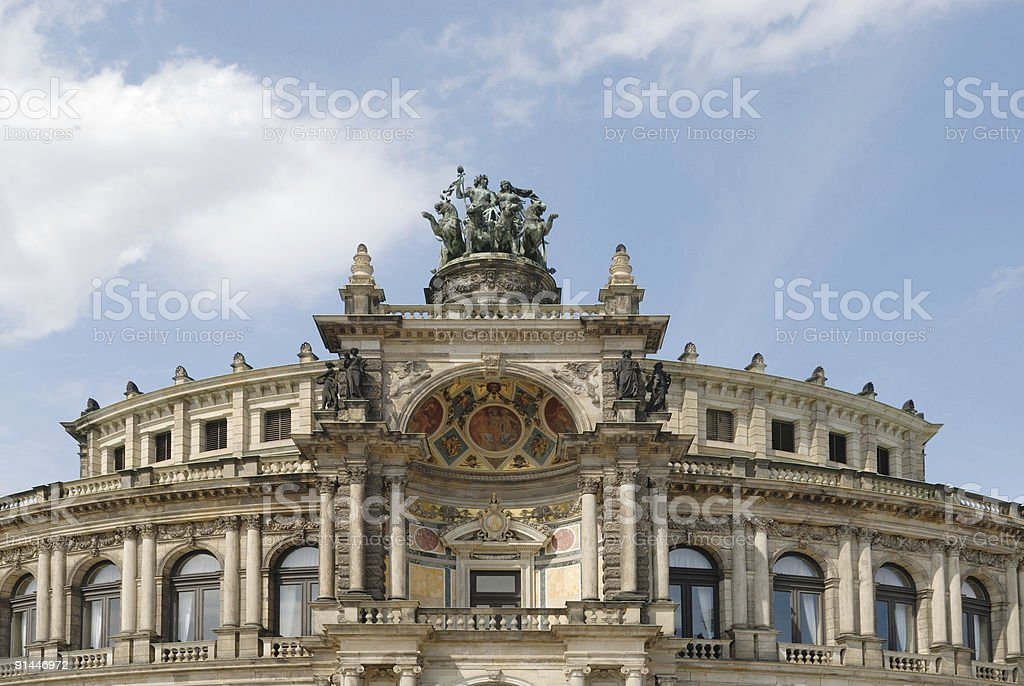 Semper Opera House Dresden royalty-free stock photo