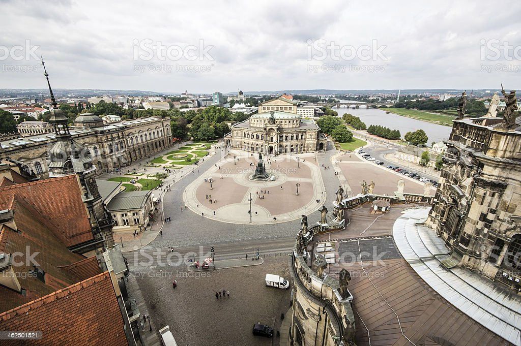 Semper Opera House in Dresden, Germany stock photo