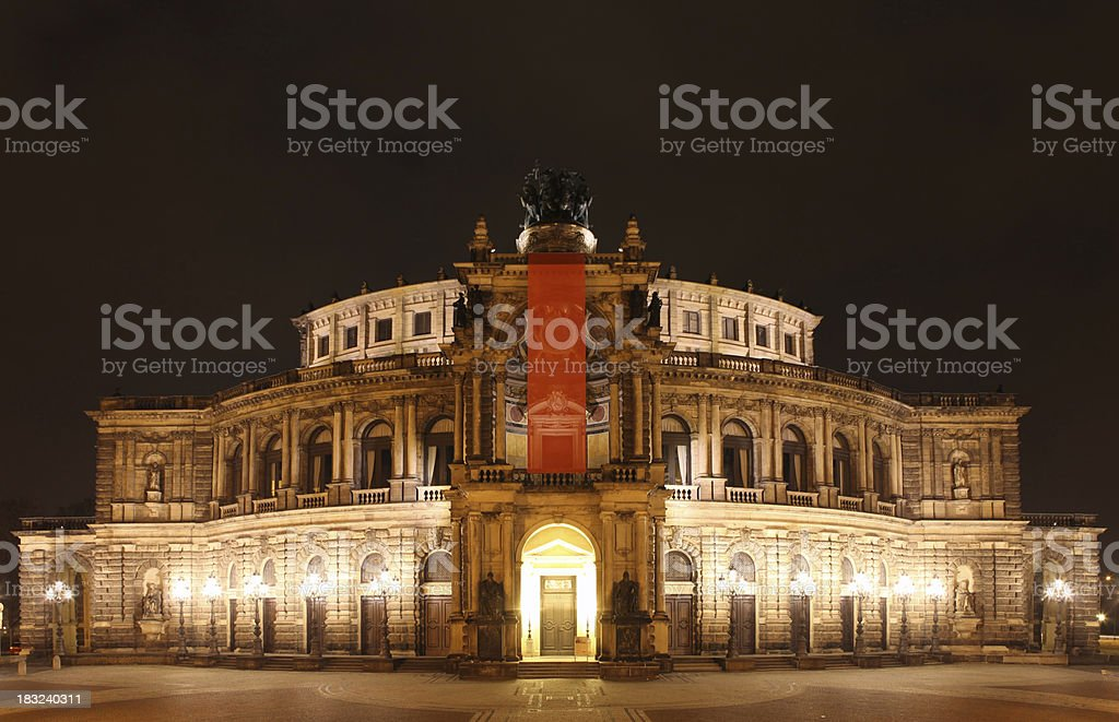 Semper Opera House stock photo