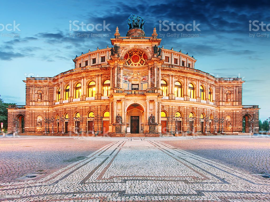 Semperoper in Dresden, Germany stock photo