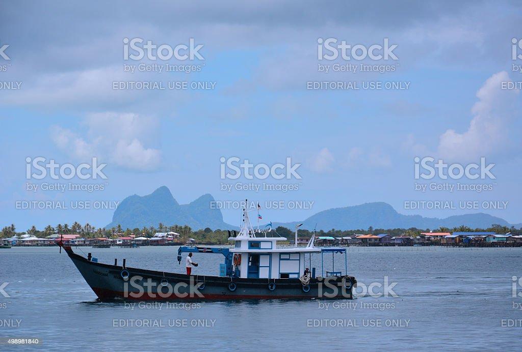 Semporna Town, Sabah Borneo, Malaysia stock photo