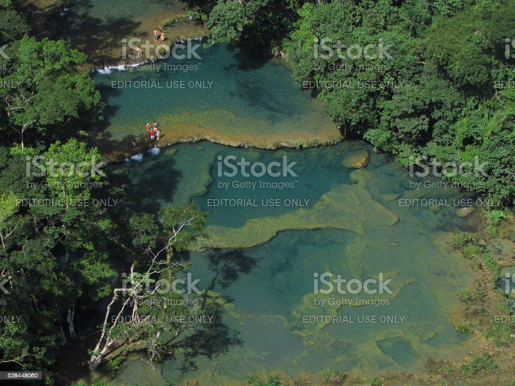 Semuc Champey, Guatemala stock photo