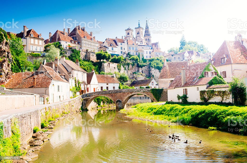 Semur-en-Auxois, Burgundy, France stock photo
