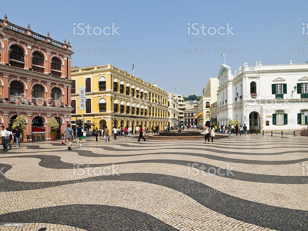 Senado Square, Macau stock photo