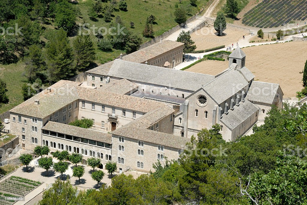 Senanque Abbey in France stock photo
