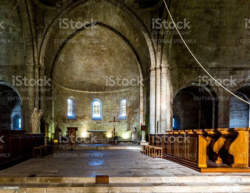 Senanque Abbey stock photo