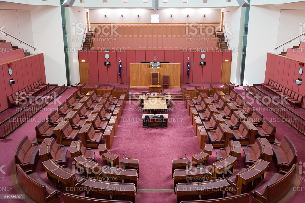 Senate Australian Parliament stock photo