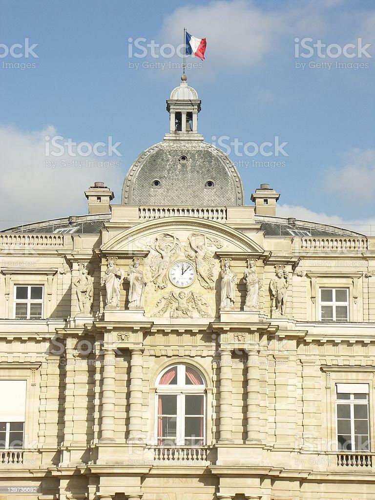 Senate building in Luxembourg garden (Paris) stock photo