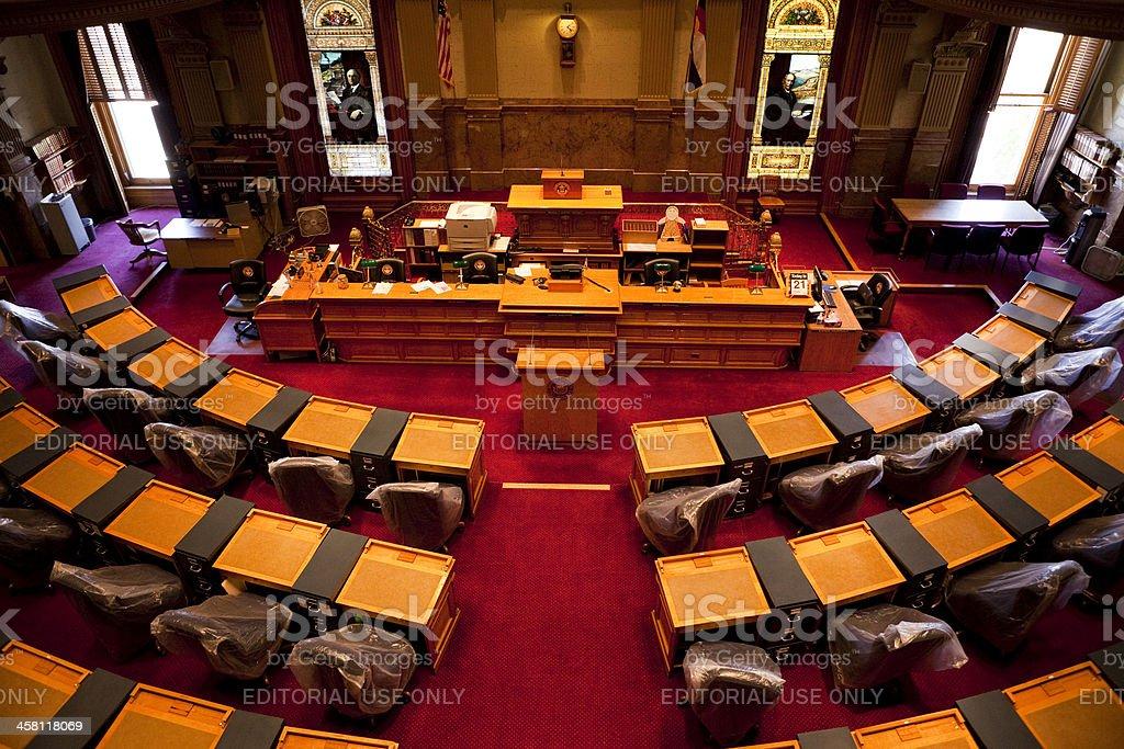 Senate Chamber Colorado State Capitol stock photo