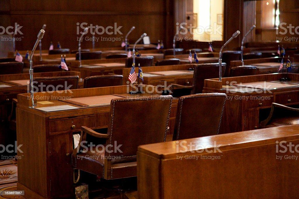 Senate Chamber Oregon State Capitol royalty-free stock photo
