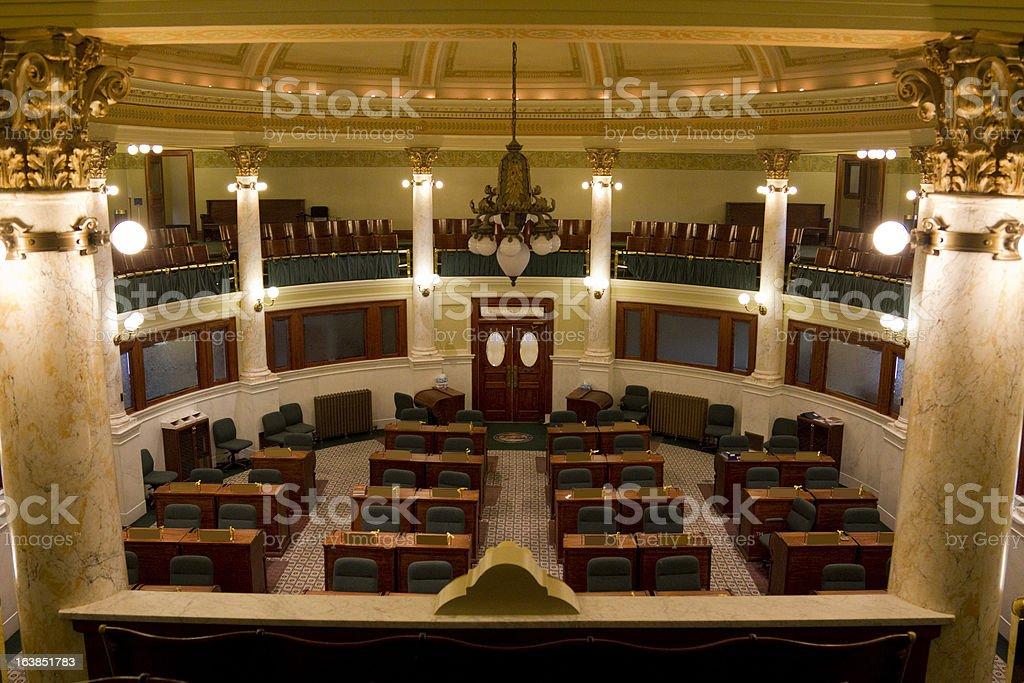 Senate Chamber South Dakota State Capitol stock photo