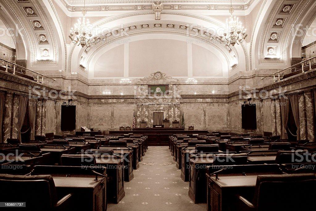 Senate Chamber Washington State Capitol stock photo