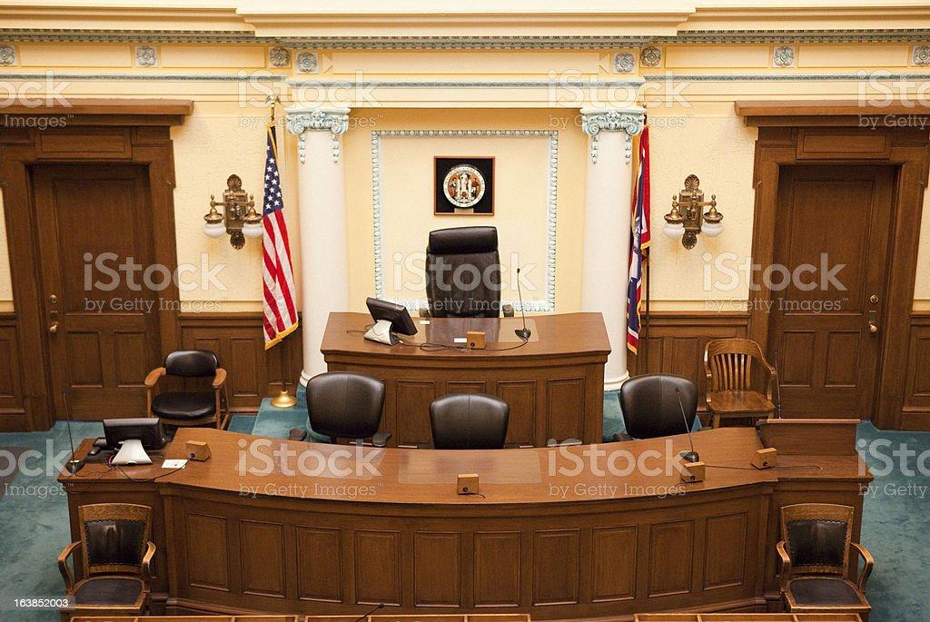Senate Chamber Wyoming State Capitol stock photo