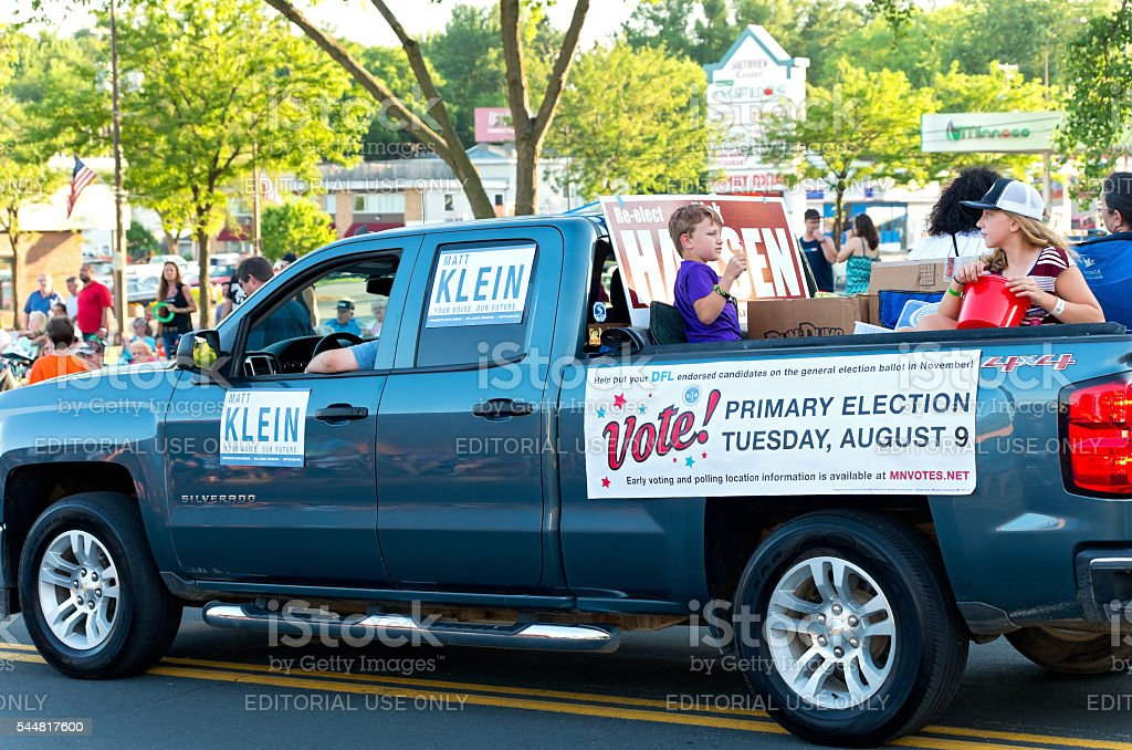 Senate District Candidates at Parade stock photo