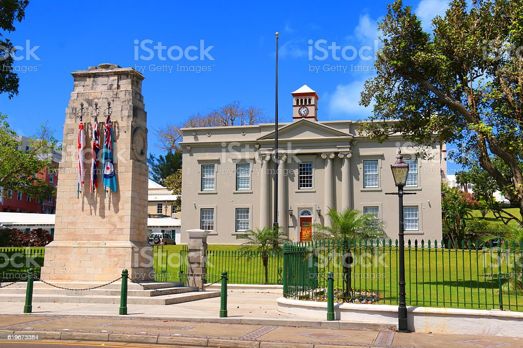 Senate of Bermuda or Cabinet Office, Hamilton, Bermuda. stock photo