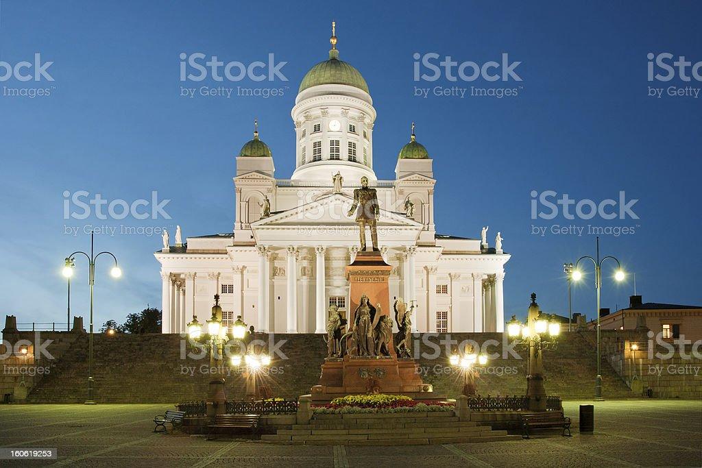 Senate square in Helsinki royalty-free stock photo