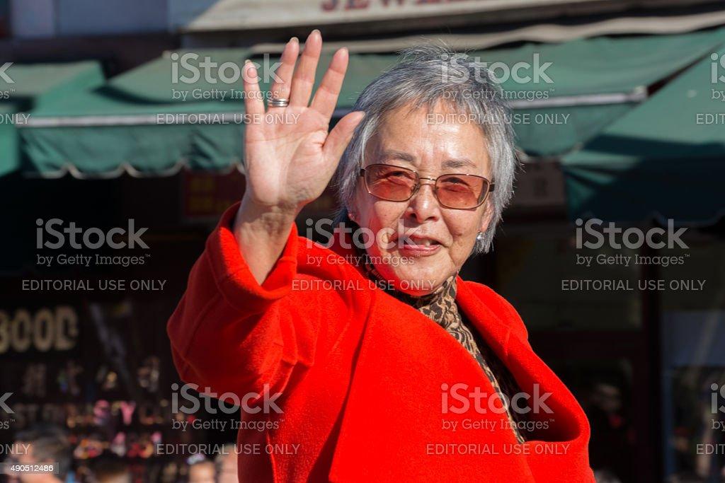 Senator Carol Liu during the Golden Dragon Parade stock photo