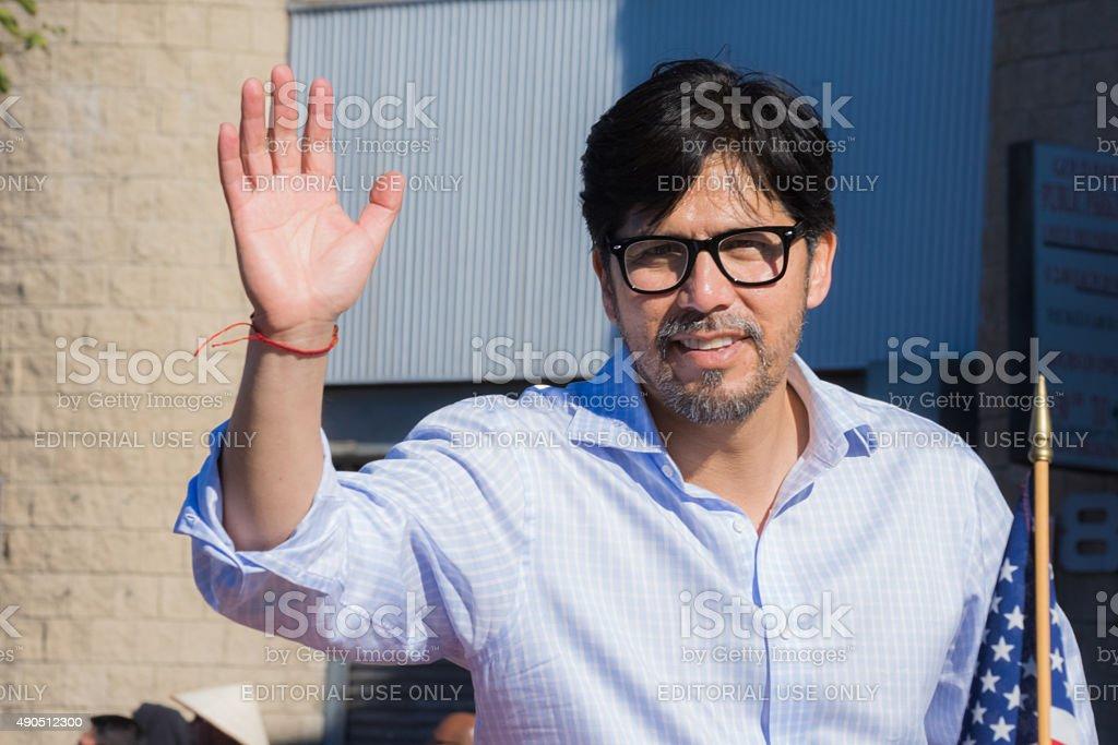 Senator Kevin de Leon during the Golden Dragon Parade stock photo