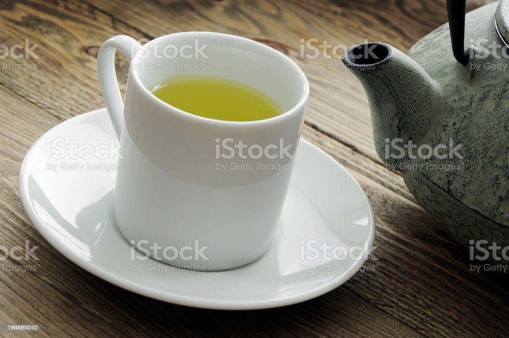 Sencha green tea royalty-free stock photo