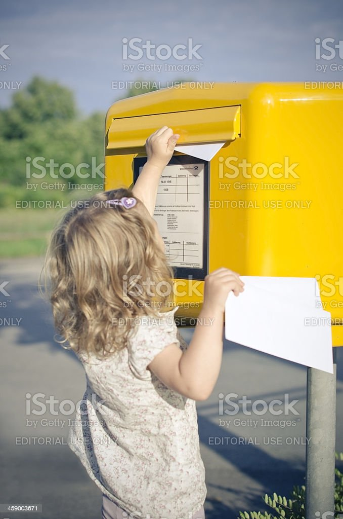 send a letter royalty-free stock photo