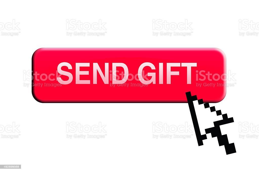 Send Gift Button stock photo