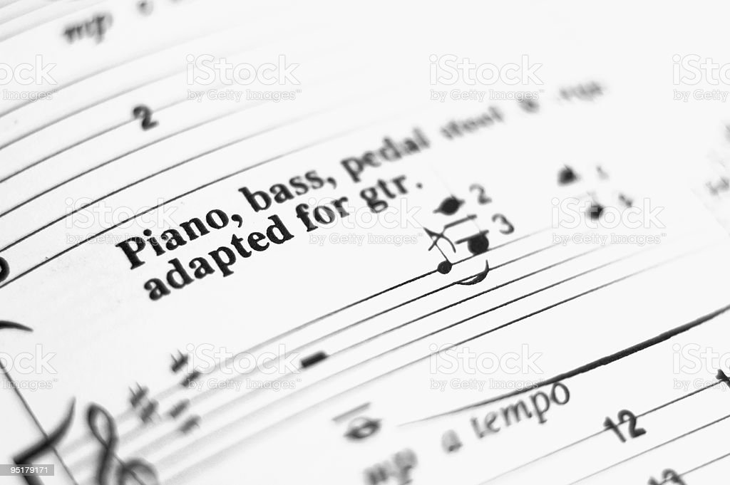 Tablature stock photo