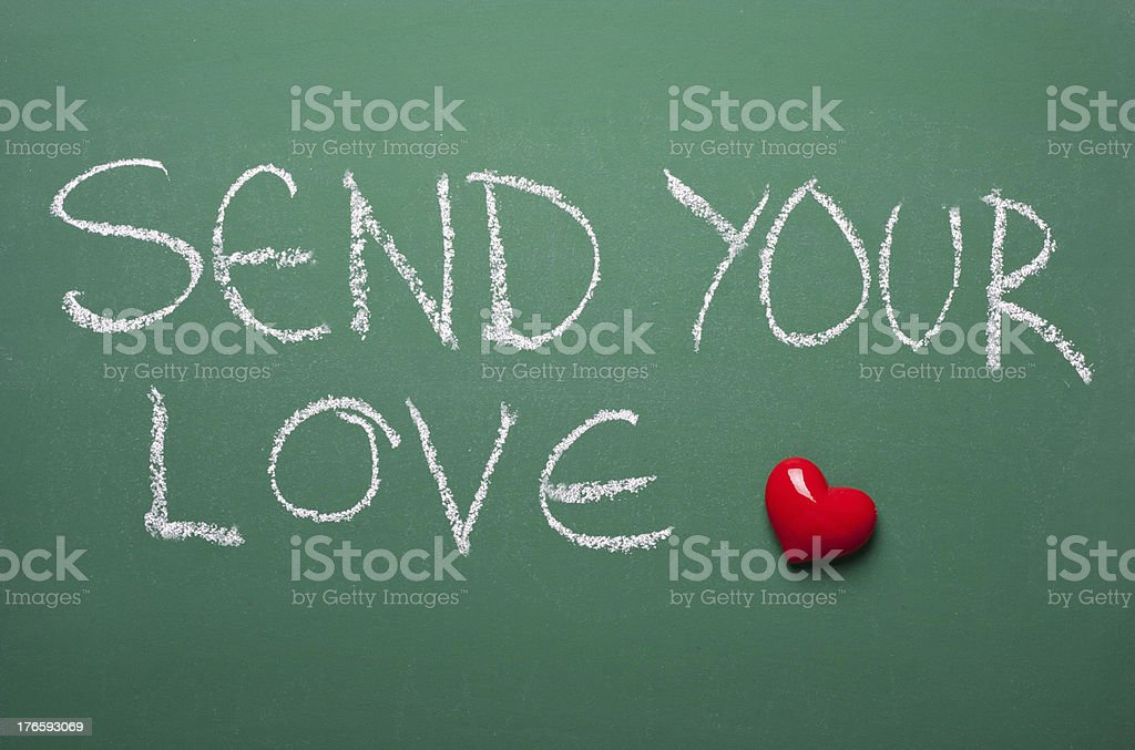 Send your love royalty-free stock photo