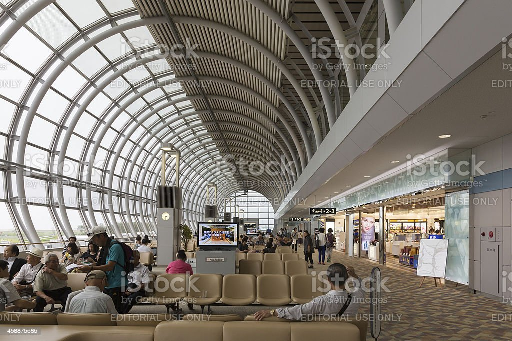 Sendai Airport in Japan royalty-free stock photo