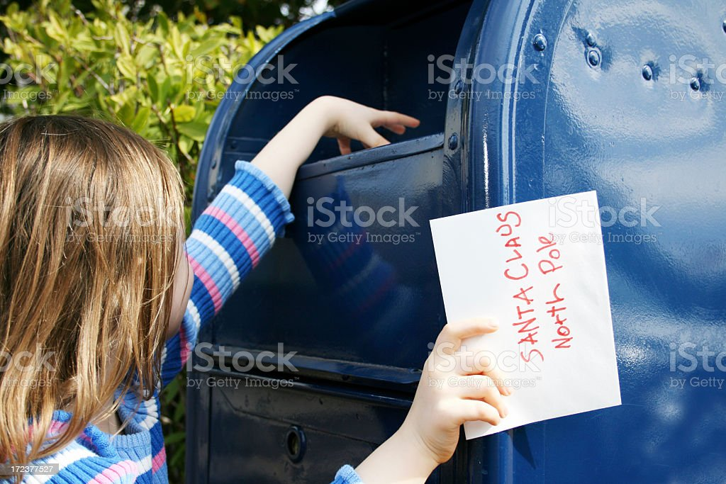 Sending a letter to Santa royalty-free stock photo
