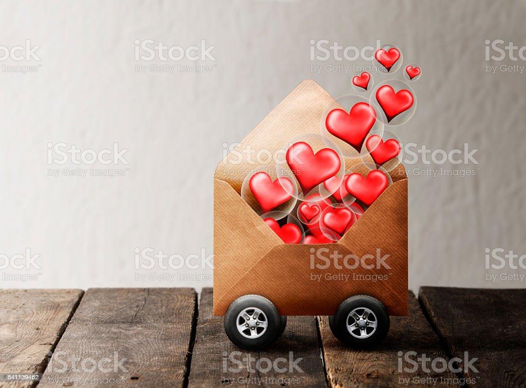 Sending a Love Letter stock photo