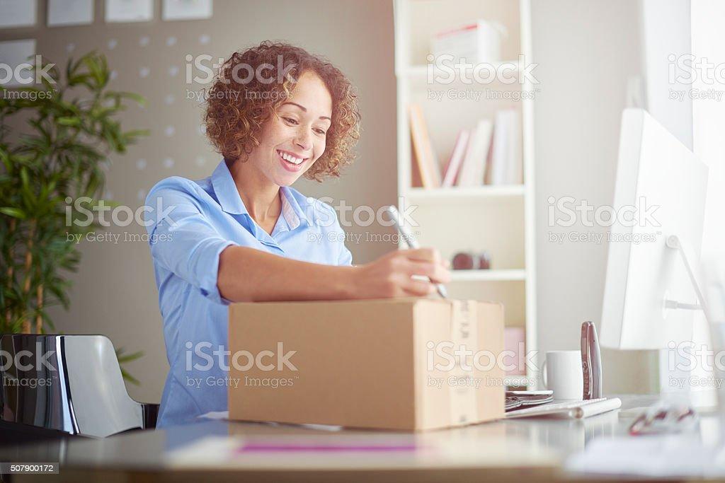 sending a parcel stock photo
