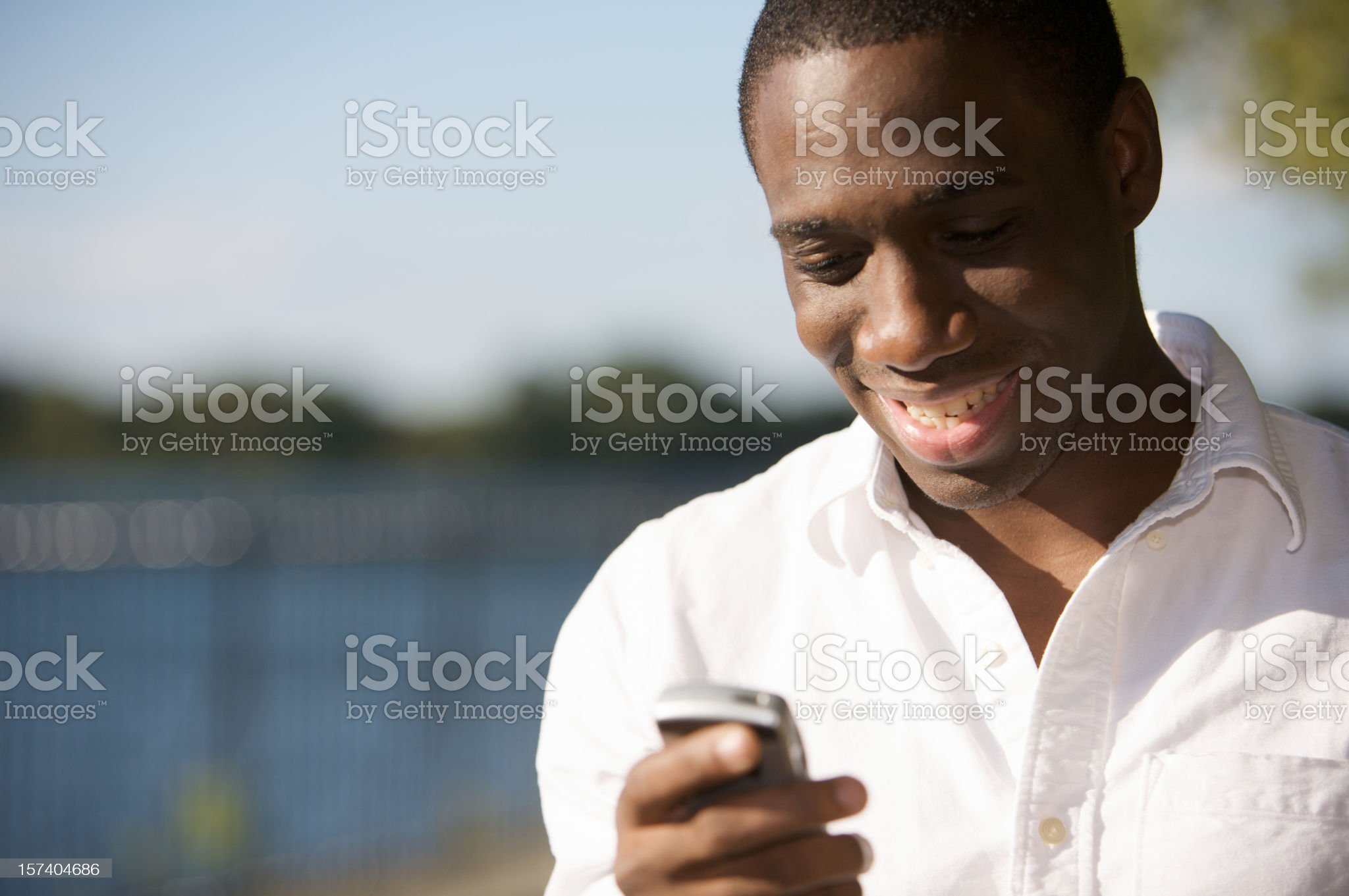 Sending A Text Message royalty-free stock photo