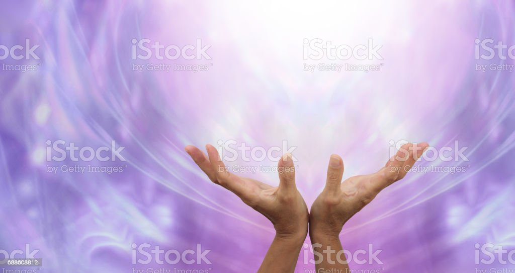 Sending Distant Healing into the Light stock photo
