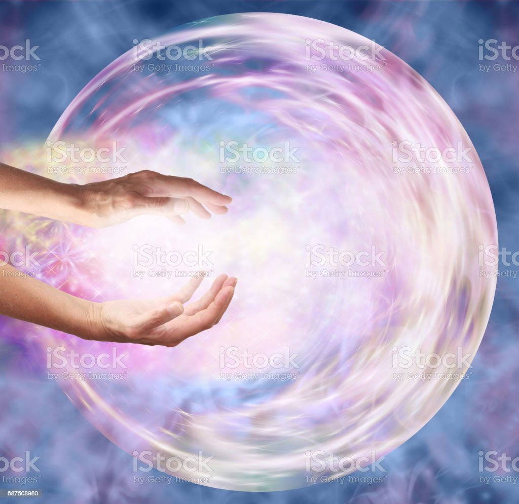 Sending Distant Healing to Embryo - stock photo