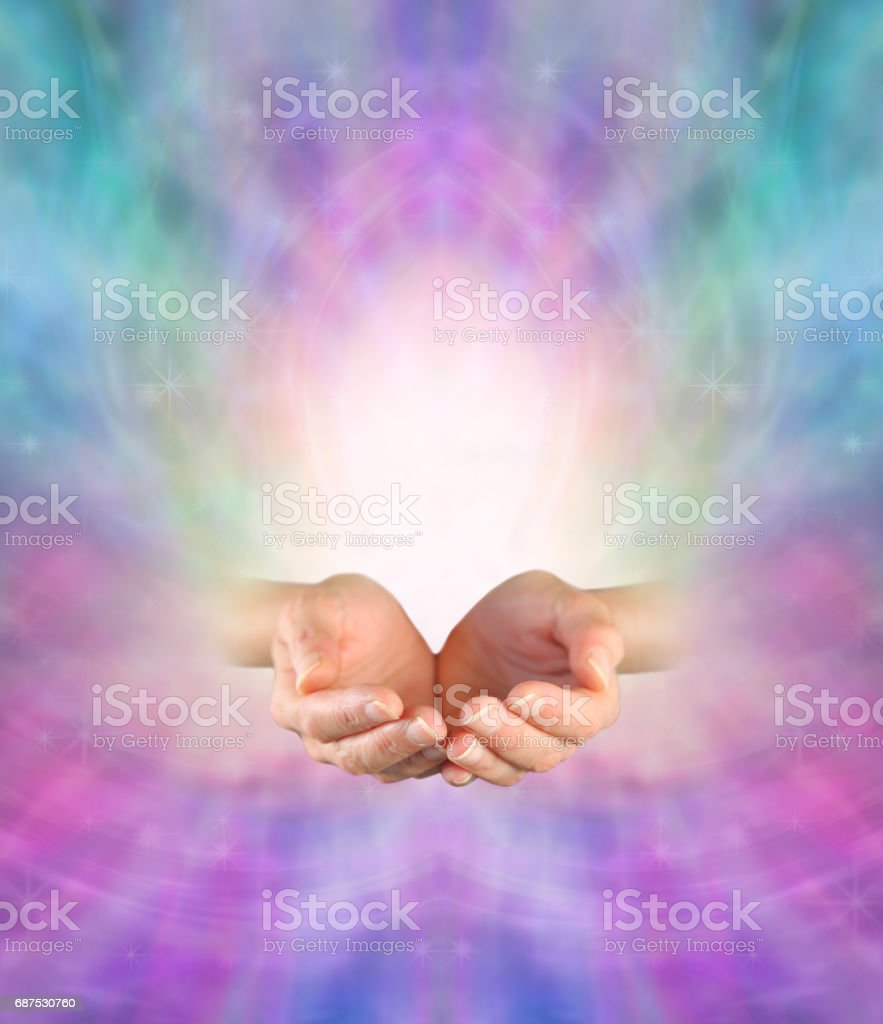 Sending Divine Healing Energy stock photo