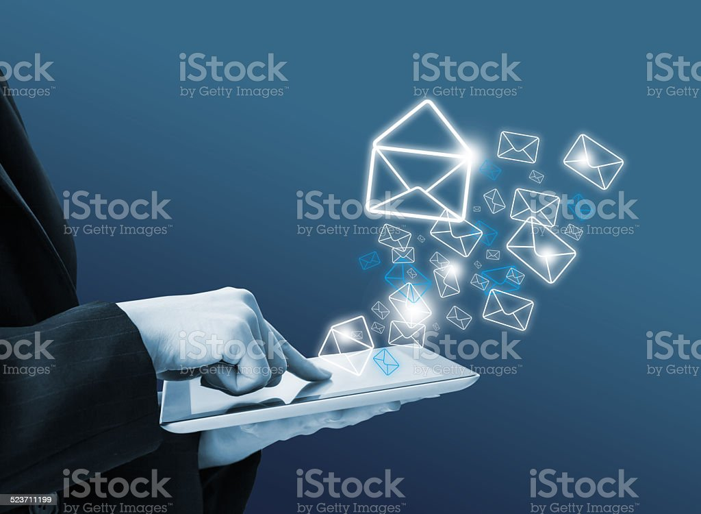 Sending email stock photo
