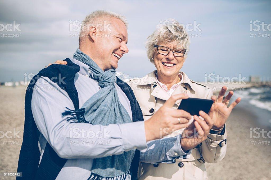 Sending kisses to family stock photo