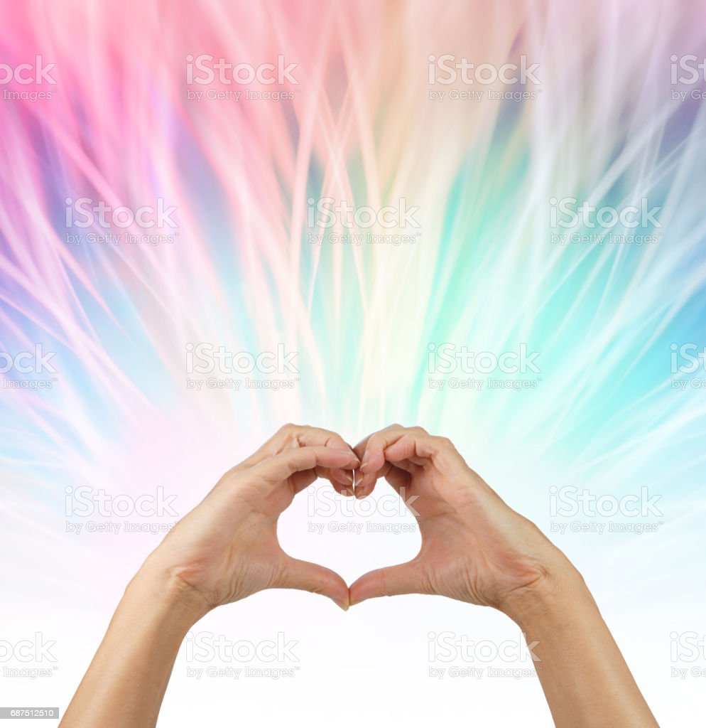 Sending love out stock photo