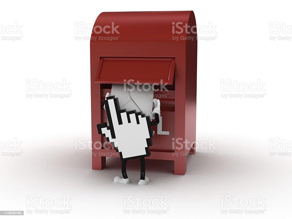 Sending mail royalty-free stock photo