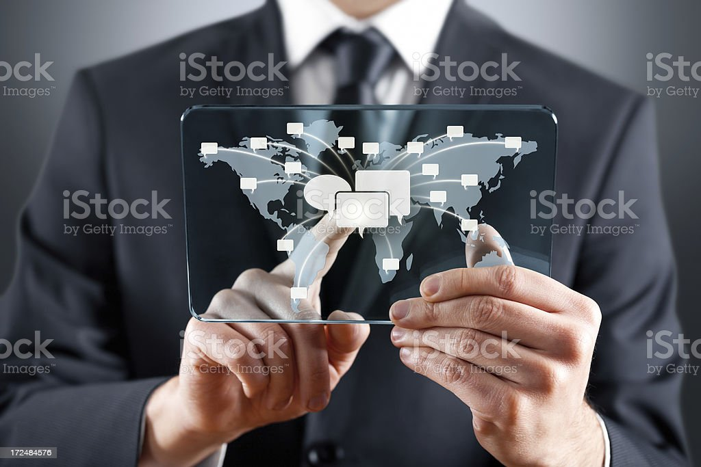 Sending Message to the World royalty-free stock photo