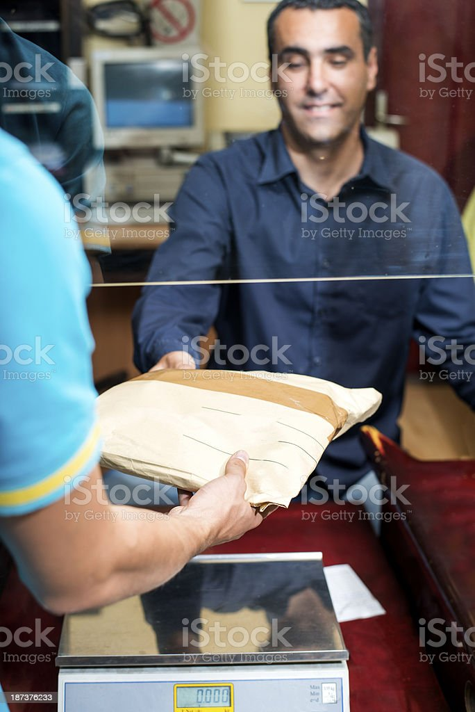 Sending packets stock photo