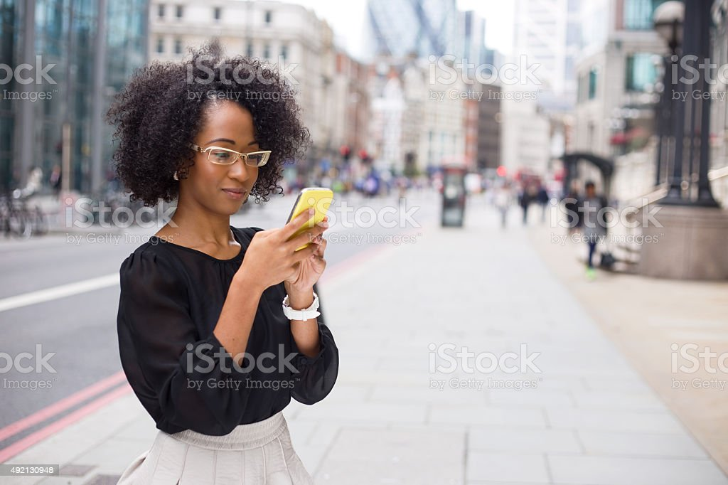 sending text message royalty-free stock photo