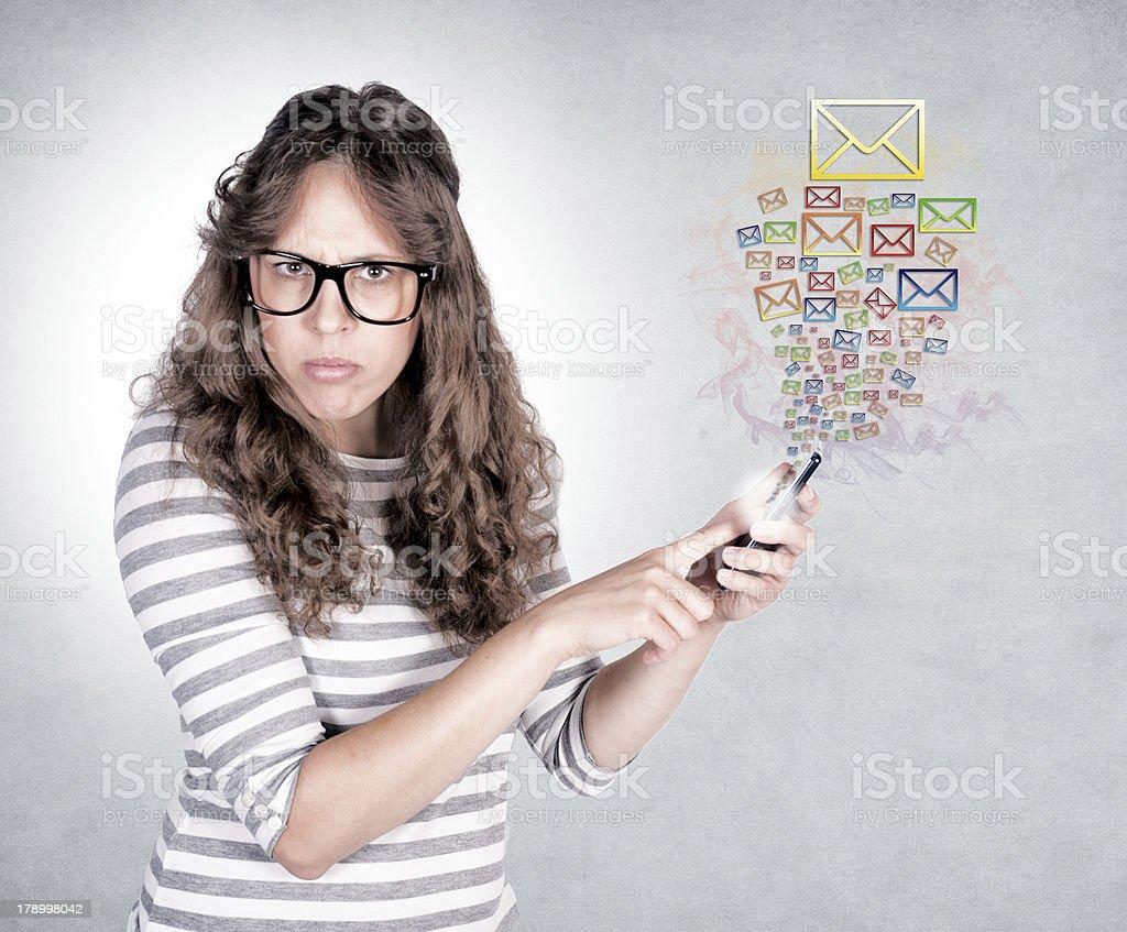 Sending text royalty-free stock photo