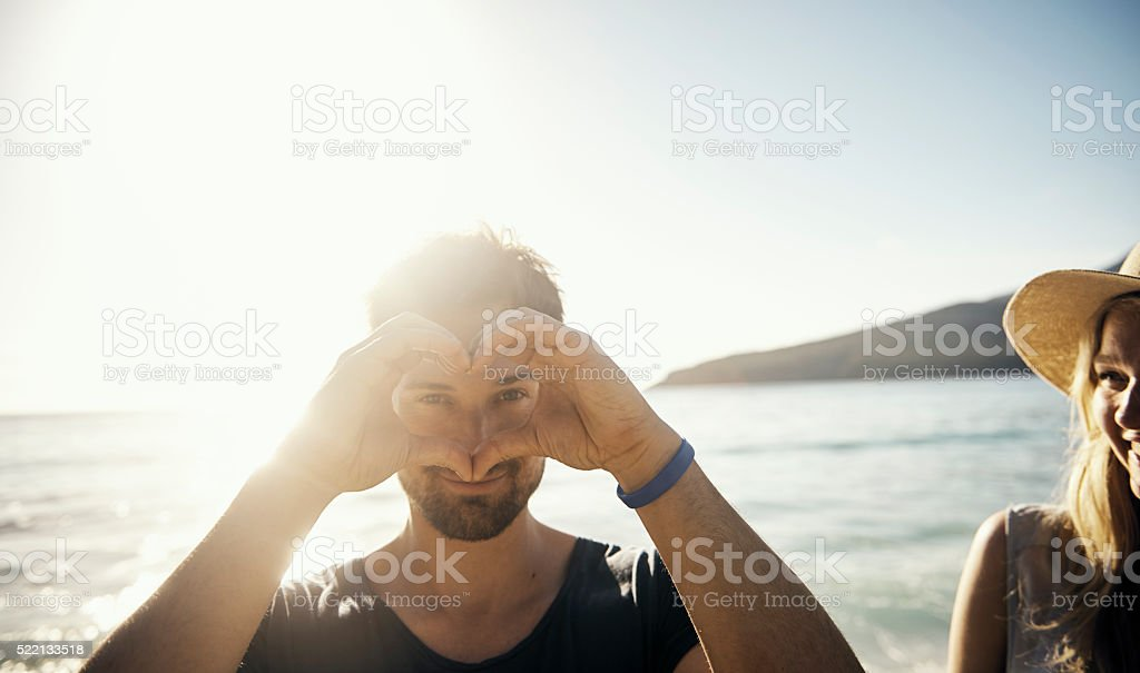 Sending you big love this summer stock photo
