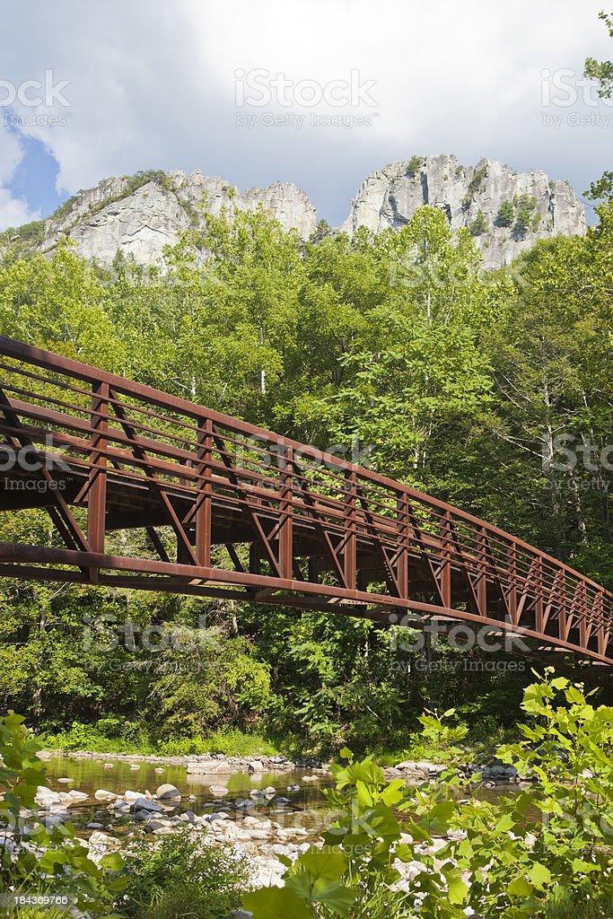 Seneca Rocks In West Virginia, USA royalty-free stock photo