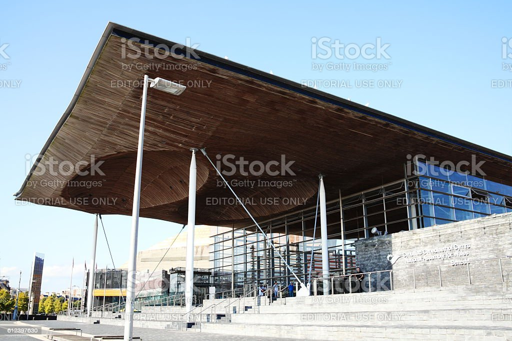 Senedd (National Assembly Building) Cardiff stock photo