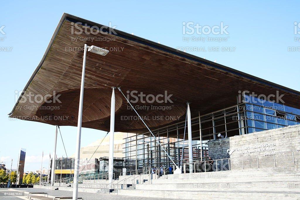 Senedd (National Assembly Building) Cardiff stock photo